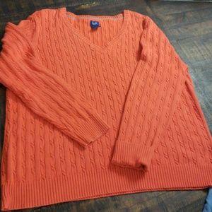 IZOD Textured Sweater Orange Cable Knit